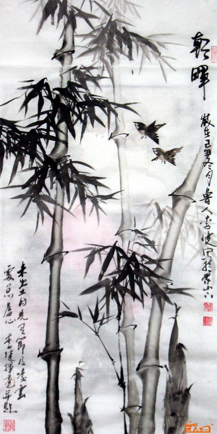 手绘竹子铅笔画图片大全 其他 铅笔画 趣味百科 竹子简